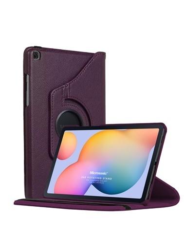 "Microsonic Samsung Galaxy Tab S6 Lite 10.4"" P610 Kılıf 360 Rotating Stand Deri Mor"
